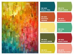 Chip It by Sherwin Williams creates a color palette from a photo with colors you like.