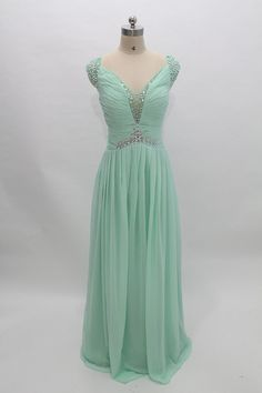 Bridesmaid/Prom/Evening/Party Chiffon Dress with Ruffles. Hand made. Plus size.