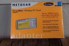 NETGEAR WPN511 RangeMax Wireless Laptop CardBus PC Card Type II Slot PCMCIA #NETGEAR