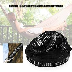 Hammock Hanging Straps Set With Adjustable Loops Camping Carabiners) Hammock Tree Straps, Husband, Camping, Amazon, Stuff To Buy, Campsite, Amazons, Riding Habit, Campers
