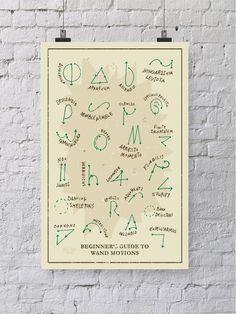 Harry Potter varita movimientos gráfico en por WellSaidCreations                                                                                                                                                                                 Más