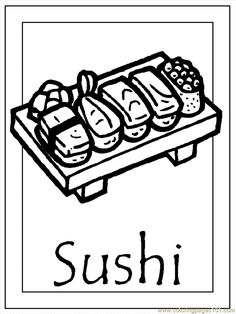 Japan 005 sushi coloring pages culture for … – Play coloring with us People Coloring Pages, Cute Coloring Pages, Free Printable Coloring Pages, Hamtaro, Japan For Kids, International Craft, Japan Summer, Japan Crafts, Japan Architecture