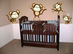 Baby Nursery:Simple Baby Boy Nursery Decorating Ideas With Monkey Room Themes Baby Boy Nursery Decorating Ideas with Room Themes