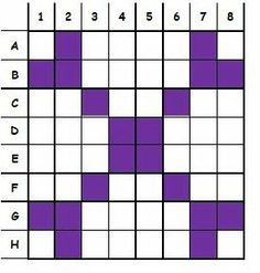 """Symmetry Game: Guess my Grid. """"Each player uses a grid to create a symmetrical pattern. An 8x8 grid works well. You can have students make their own..."""""""