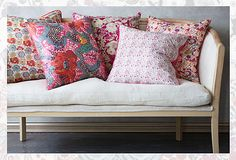 White Sofa Liberty pillows