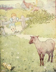 "Baa Baa Black Sheep - ""Baa, baa, black sheep, have you any wool? Yes, sir, yes, sir, three bags full. One for my master, one for my dame, and one for the little boy who lived down the lane."""