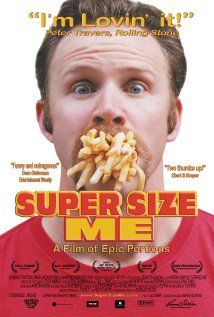 Super Size Me- this is a really good movie for a health lesson. It shows how much weight this man gains if he were to eat McDonalds every day for every meal. This will at least get children to think about eating junk food in moderation, and think about what they are putting into their bodies.-Kaitlyn Aceto
