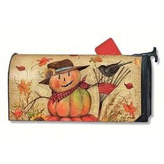 Fall Mailbox Cover MailWraps Fall Friends Pumpkin Pumpkins Magnetic Covers New #MailWraps