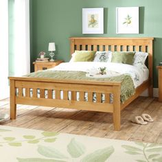 The Furniture Market Hereford Rustic Oak Double Size Slatted Bed Wood Bed Design, Bed Frame Design, Oak Bedroom, Bedroom Bed Design, Furniture Market, Furniture Design, Bed Designs With Storage, House Roof Design, Double Bed Designs