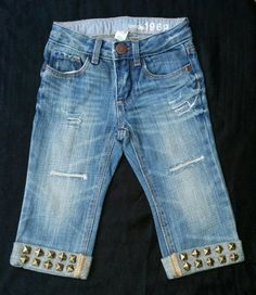 Pictured is a Size 18-24M Fashionable Distressed by DivineKidz