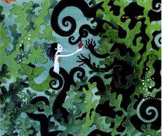 illustration from La Petite Sirene by Charlotte Gastaut, via Stella Baggott, on Flickr