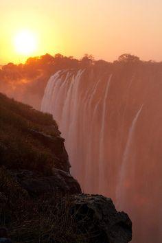 Sunset in Victoria Falls, Zambia