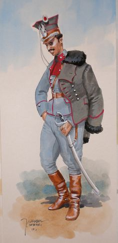 Lancer of the Lancer regiment of the Polish legions Military Diorama, Military Art, Military Uniforms, Russian Revolution, Red Army, World War I, First World, Troops, Wwii