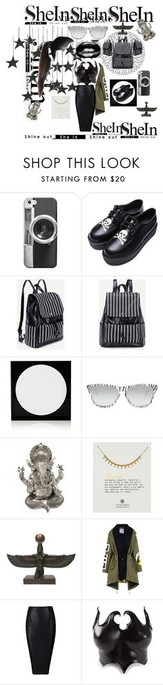"""🔲 no negativity goddess white stripes backpack 2 die 4 🔲"" by maijah ❤ liked on Polyvore featuring Casetify, Lisa Perry, Oakley, Benzara, Dogeared, Moschino and Jean Pierre Bua"
