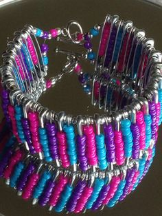 Hey, I found this really awesome Etsy listing at https://www.etsy.com/listing/193199307/safety-pin-bracelet-spring-fling