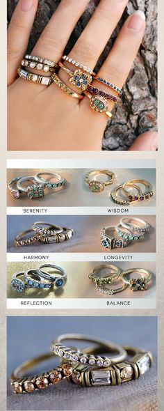 A SET of 3 stacking rings to stack and mix with other rings to create a new combination every time you wear them. #ad#jewelry#ring#StackingRingsSet #StackableRings#CrystalRings #StackRings #StackingRingSet#BohoRings#GoldStackingRings#Inspirationaljewelry