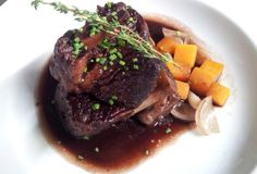 Braised Beef Short Ribs in red wine & roasted shallots-Chez Nous