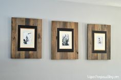 DIY Picture Frame: Get the Rustic Weathered Pallet Look This easy DIY Picture Frame tutorial create a beautiful weathered wood frame that's perfect for displaying those precious moments. Pallet Picture Frames, Pallet Pictures, Pallet Frames, Rustic Pictures, Picture On Wood, Rustic Frames, Wood Frames, Pallet Wood, Wood Pallets