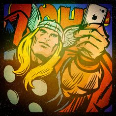 Marvel #Selfies: Avengers Project by Butcher Billy by Butcher Billy, via Behance