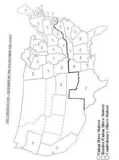America Civil War Coloring Story Page Civil War Lapbook - Us history civil war blank map