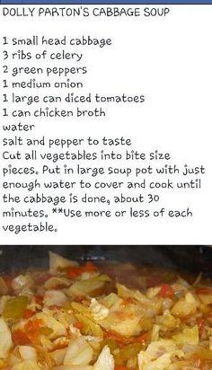 Dolly Parton's Cabbage Soup