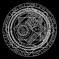 my magic circle by hoyeechun on DeviantArt Cthulhu, Spell Circle, Magic Circle Crochet, Summoning Circle, Magic Symbols, Occult Art, Book Of Shadows, Sacred Geometry, Alchemy
