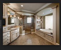 Master bath idea 2 Master Bathroom Layout, Luxury Master Bathrooms, Modern Luxury Bathroom, Dream Bathrooms, Bathroom Windows, Bathroom Design Luxury, Beautiful Bathrooms, Master Baths, Master Bathroom Shower
