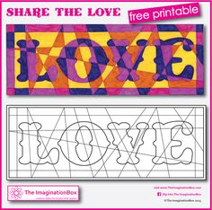Share the Love! Fun free printable for door signs, birthdays, mother's day, valentine's....