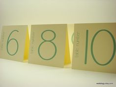 Table Number Wedding Tented Bistro Design in Colors to by wedology, $2.25