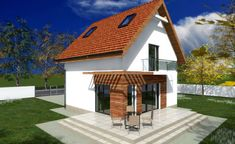 Tiny one story house plans - spacious little homes One Story Homes, Concept Home, Story House, Small House Plans, Belize, Gazebo, Living Spaces, Outdoor Structures, How To Plan