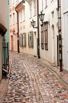 Riga, Latvia. Walking here's like walking back in time.