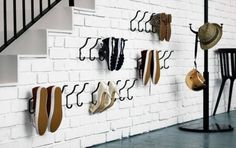 Upgrade Your Shoe Storage With These DIYs: Shoe Wall Hooks