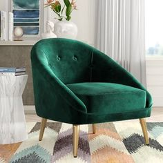 Comfy Oversized Chair With Ottoman Green Accent Chair, Accent Chairs, Chair Upholstery, Chair Fabric, Wingback Chair, Shabby Chic Table And Chairs, Harry Potter, Office Chair Without Wheels, Camping Chairs