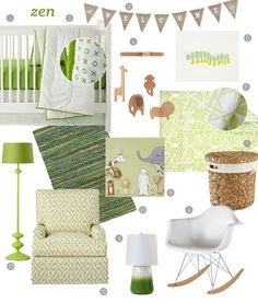 Incorporate green for a gender neutral nursery.