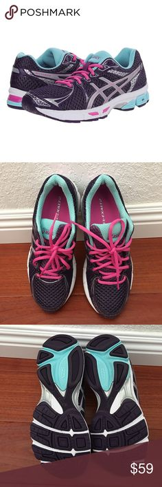 Asics Gel Exalt 2 Running Purple Aqua Silver 8 New without box Asics Gel Exalt 2 Running Sneakers in Purple / Aqua / Silver / Pink  🚫 NO RUDE COMMENTS. 🚫 NO TRADES. 🚫 NO RETURNS OR EXCHANGES. 🚫 NOT RESPONSIBLE FOR LOST PACKAGES. 🚫 WILL NOT RESPOND TO LOWEST PRICE QUESTIONS. PLEASE USE THE OFFER BUTTON. Asics Shoes Athletic Shoes