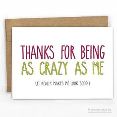 Funny Friendship Thank You Card by Cypress Card Co.