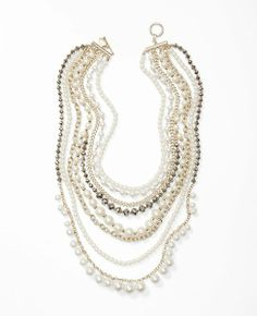 Ann Taylor Pearl + Chain necklace - one of my favorite costume jewelry pieces is back in stock