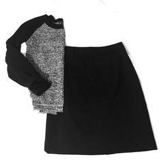 Classic Black Pencil Skirt Brand new classic black pencil skirt that can be dressed up for professional work environments, or paired with chunky sweaters and statement necklaces for a chic snappy casual look! Alfani Skirts Pencil