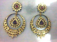 Chand bali polki diamond earrings
