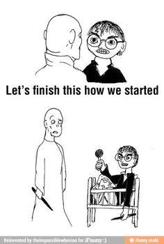 "haha, I never understood that moment in the movie? Harry: ""hey there Voldemort, let's hug! haha, I never understood that moment in the movie? Harry: hey there Voldemort, let's hug! Harry Potter Jokes, Harry Potter Fandom, Hogwarts, Slytherin, Memes Humor, Funny Memes, Humor Quotes, Funny Quotes, Nerd Humor"