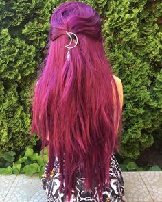 Straight pink and purple hair