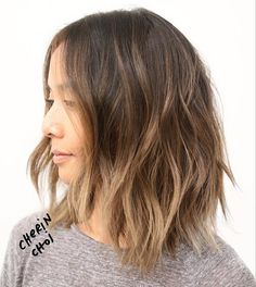 """""""Try something different and get highlights instead of an all over brown ❤️ her hair is naturally almost black but the highlights create an illusion of…"""""""