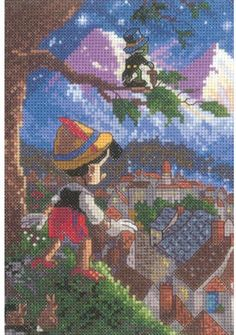Candamar Designs Pinocchio - Disney Cross Stitch Kit 52551 ...