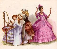 cinderella stepsisters | the great night came, Cinderella was very busy helping the stepsisters ...