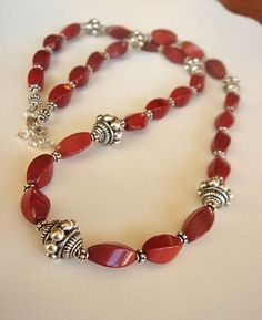 Red Jasper Necklace with Bali Sterling by KatesArtisanJewelry, $78.00