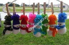 Ravelry: crocheted snowman ornament