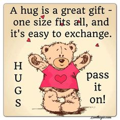 a hug love quotes cute hug heart happy happy quotes cute quotes teddy bear cute quote
