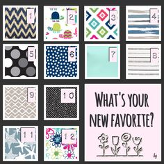 Spring/Summer 2017 NEW Thirty-One prints & patterns! Which one is your favorite?