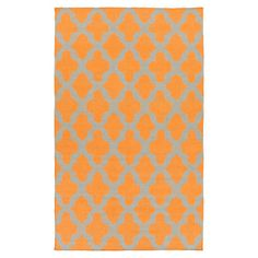 Bring a pop of pattern to your master suite ensemble or living room seating group with this hand-woven wool rug, showcasing a quatrefoil trellis motif in an ...