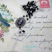 Musta Keep Calm 40€ rukousnauha #rukousnauha #rosario #usko #rakkaus #risti #kristinusko #helmipaikka